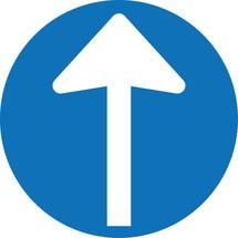 Gebotsschild 'Richtungspfeil', 4er-Set