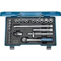 GEDORE Steckschlüsselsatz, Schlüsselweiten 6-22 mm