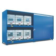 Gefahrstoff-Regalcontainer, KTC-/IBC-Lagerung, Flügeltür, HxBxT 3.650 x 2.820 x 1.640 mm