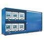 Gefahrstoff-Regalcontainer, KTC-/IBC-Lagerung, Schiebetür, 7000x1640mm