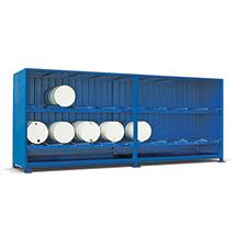 Gefahrstoff-Regalcontainer, liegende Lagerung, Schiebetür, 6240x1640mm