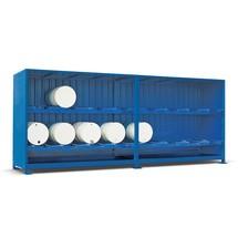 Gefahrstoff-Regalcontainer, liegende Lagerung, Schiebetür, HxBxT 3.020 x 6.240 x 1.640 mm