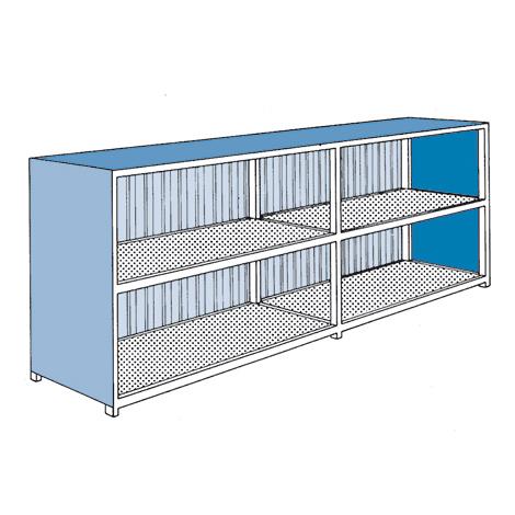 Gefahrstoff-Regalcontainer, stehende Lagerung, Flügeltür, 3120x1640mm