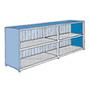 Gefahrstoff-Regalcontainer, stehende Lagerung, Schiebetür, 6240x1640mm