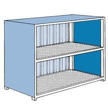 Gefahrstoff-Regalcontainer, stehende Lagerung, Schiebetür, HxBxT 3.020 x 6.240 x 1.640 mm