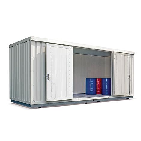 Gefahrstoffcontainer, isoliert
