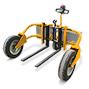 Gelände-Hubwagen Ameise® elektro-hydraulisch - Tragkraft 1200 kg, Gabellänge 890 mm