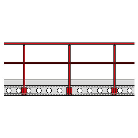 Geländer für Lagerbühnen-Modulsystem