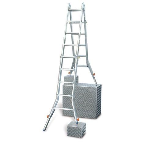 Gelenk-Teleskopleiter KRAUSE® mit 4 integrierten Holmverlängerungen
