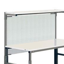 Geperforeerde plaat voor ergonomische werkplaatssystemen