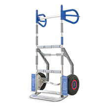 Gerätekarre EXPRESSO aus Aluminium. Tragkraft 300 kg. Luftbereifung