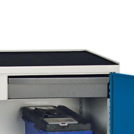 Geribbelde rubberbekleding voor werkplaatsbijzetkast stumpf®