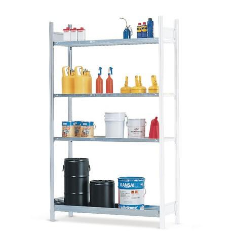 Gevaarlijke-stoffenstelling asecos®, voor waterverontreinigende en ontvlambare vloeistoffen