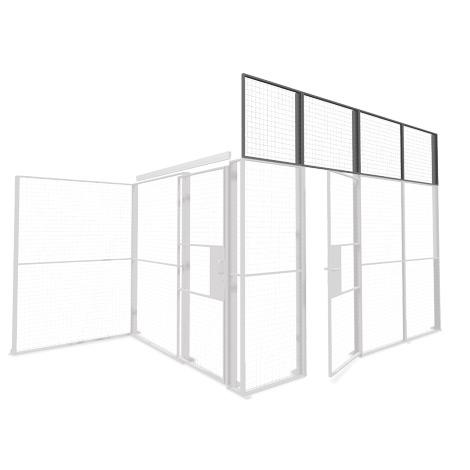 Gitter-Lagertrennwände, Aufsatzelement Standard, Höhe 800 mm