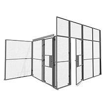 Gitter-Lagertrennwände, Doppelschiebetüren, Breite 1900 - 2300mm