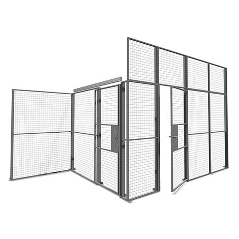 Gitter-Lagertrennwände, Flügeltüren, Breite 900 - 1200mm