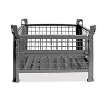 Gitterbox, 4 feste Wände, TK 1000kg, 800x600x500mm, lack.