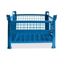 Gitterbox HESON®, mit ½ Gitterklappe, lackiert, HxBxT 600 x 1.000 x 800 mm