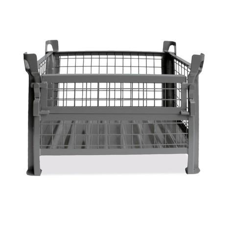 Gitterbox HESON®, mit ½ Gitterklappe, lackiert, HxBxT 900 x 1.200 x 800 mm
