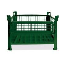 Gitterbox HESON®, Wände feststehend, lackiert, HxBxT 600 x 1.200 x 800 mm