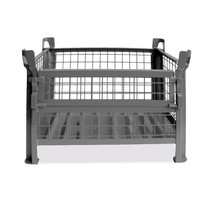Gitterbox HESON®, Wände feststehend, lackiert, HxBxT 600 x 800 x 600 mm