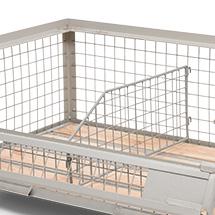 Gitterbox Inneneinteilung für halbhohe Industrie-Gitterbox