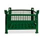 Gitterbox,½ klappbare Wand, TK 1000kg, 1000x800x600mm,lack