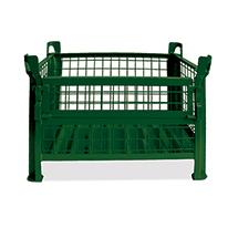 Gitterbox,½ klappbare Wand, TK 1000kg, 1200x800x600mm,lack