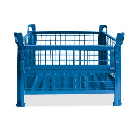 Gitterbox,½ klappbare Wand, TK 1000kg, 800x600x500mm,lack