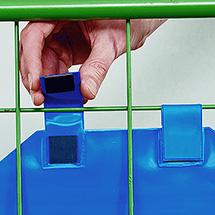 Gitterbox-Tasche mit Laschen
