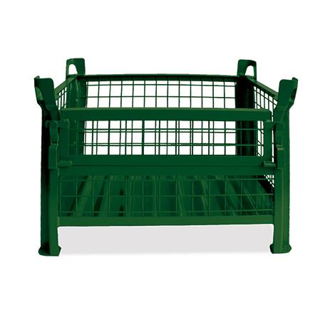 Gitterbox,4 feste Wände, TK 1000kg, 1000x800x600mm, lackiert