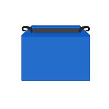 Gitterboxtasche mit Einhängehaken