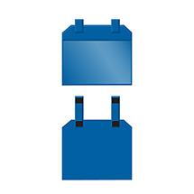 Gitterboxtaschen mit Magnetverschluss
