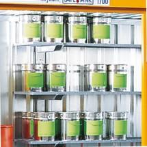 Gitterrost-Regal für Umweltcontainer
