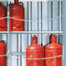 Gitterrost-Regalboden für Gasflaschen-Lagercontainer TRGS 510