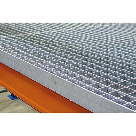 Gitterrostauflage für das  Palettenregal Typ S