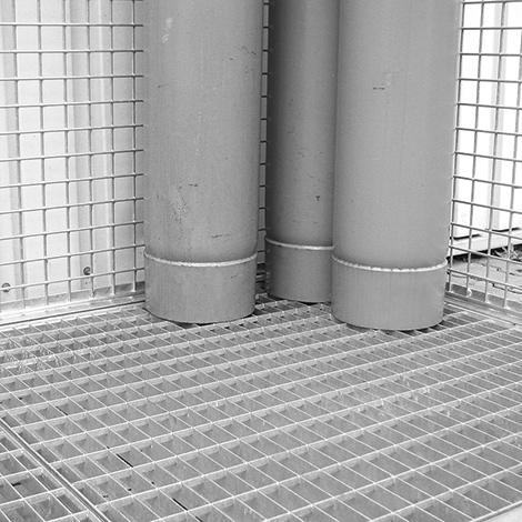 Gitterrostboden für Gasflaschen-Lagerbox TRG 280