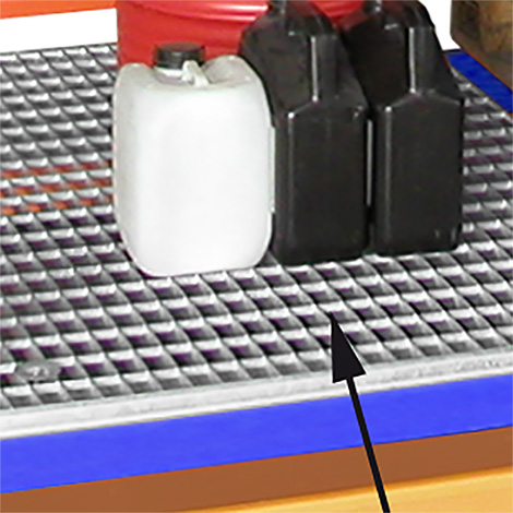Gitterrostboden für Palettenregale für Auffangwannen