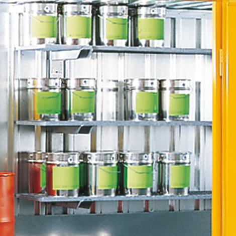 Gitterrostregal für Großraum-/Umweltcontainer