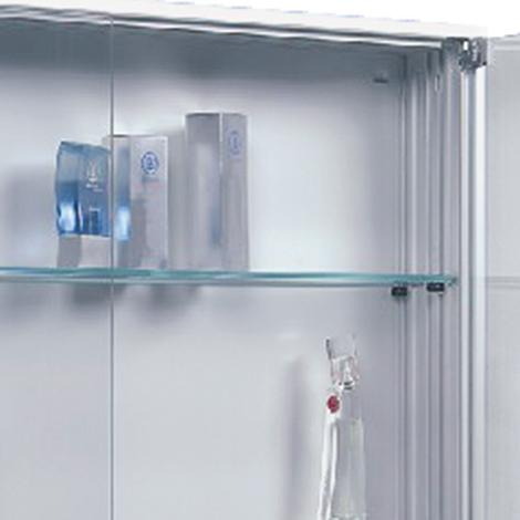 Glasfachboden für Vitrinen. Breite bis 1600 mm