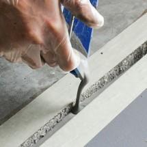 Golv reparation för betonggolv, flöde kitt