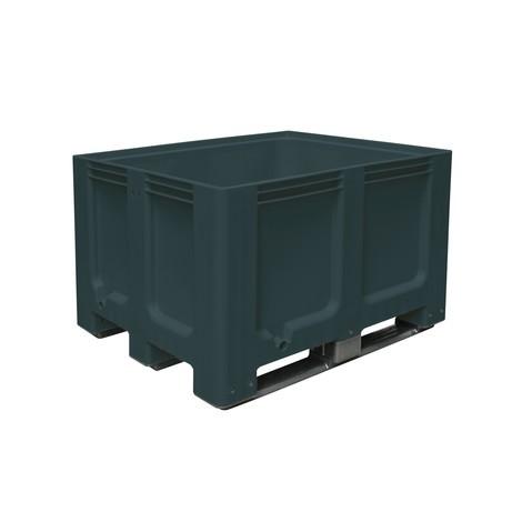 Gran contenedor de polietileno, 610 litros, con travesaños