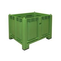 Gran contenedor de polipropileno, 550 litros, con pies