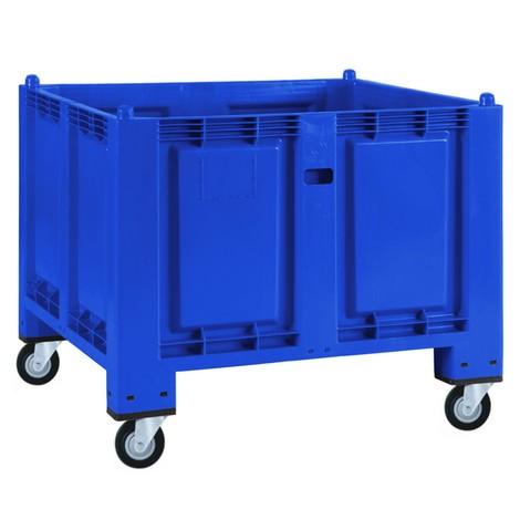Gran contenedor de polipropileno, 550 litros, con rodillos