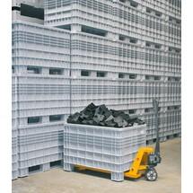 Grands conteneurs en polyéthylène, avec pieds