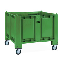 Grands conteneurs en polypropylène, 550 litres, avec galets