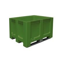 Grands conteneurs en polyéthylène, 610 litres, avec traverses