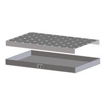 Grelha de placa perfurada para bacia de captura para pequenos recipientes