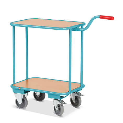 Griffroller Ameise® mit 2 Ladeflächen aus Holzwerkstoffplatte