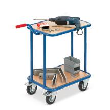 Griffroller fetra® mit 2 Holzetagen. Tragkraft 200 kg